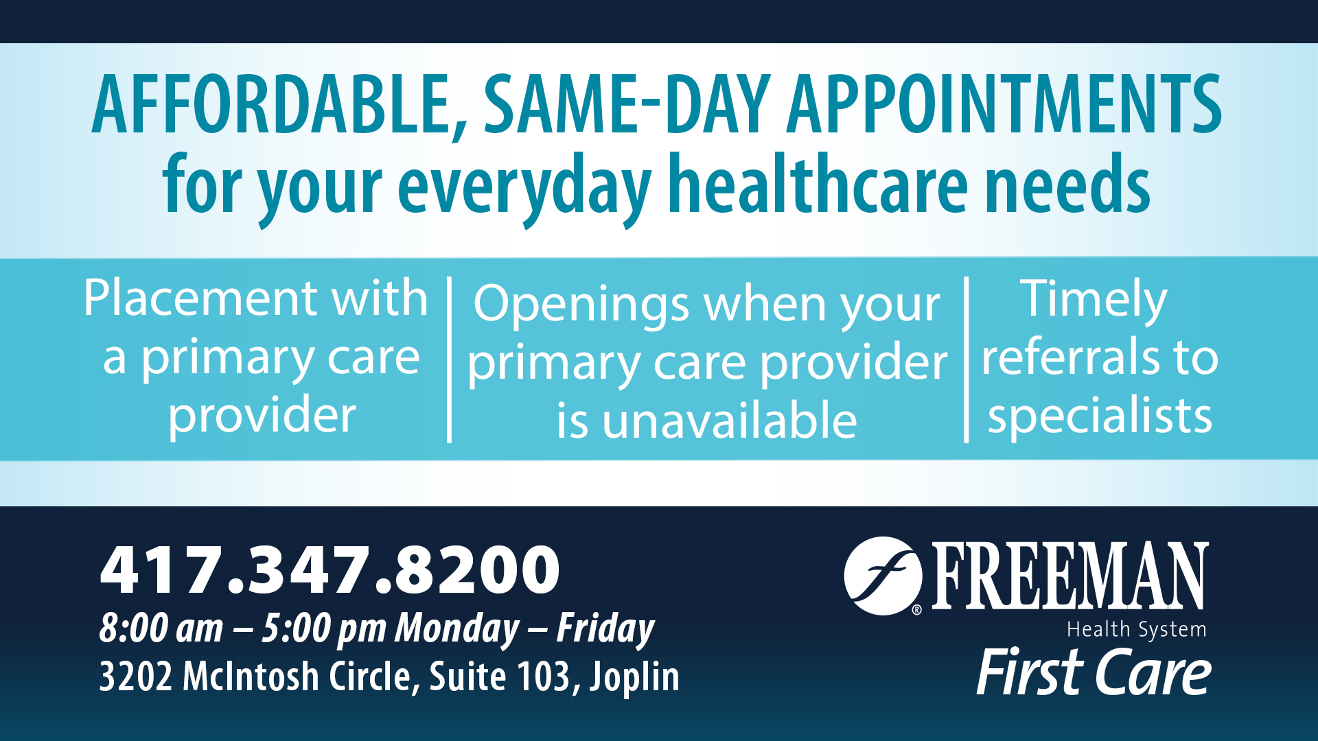 First Care ad