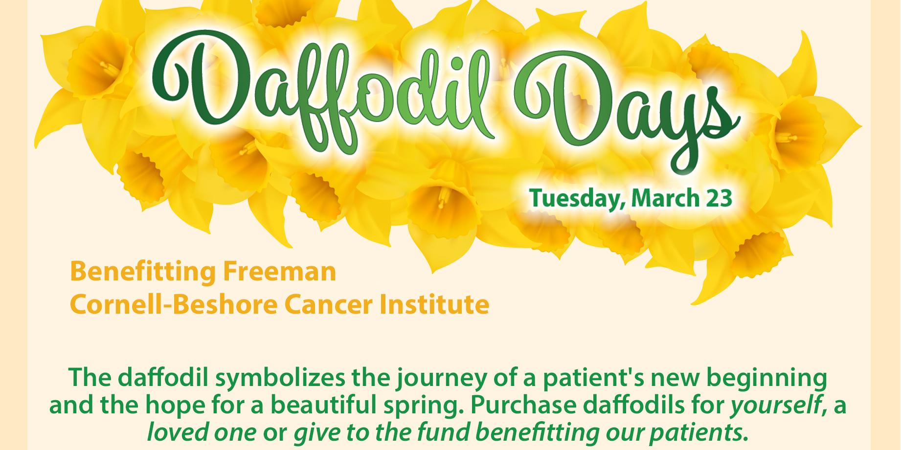 Daffodil Days Cancer Institute 2021