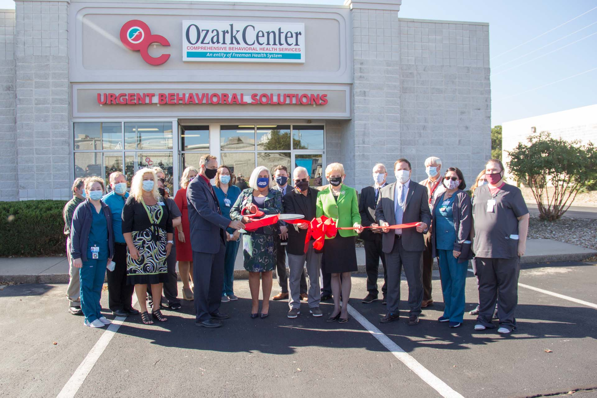 Ozark Center UBS ribbon cutting