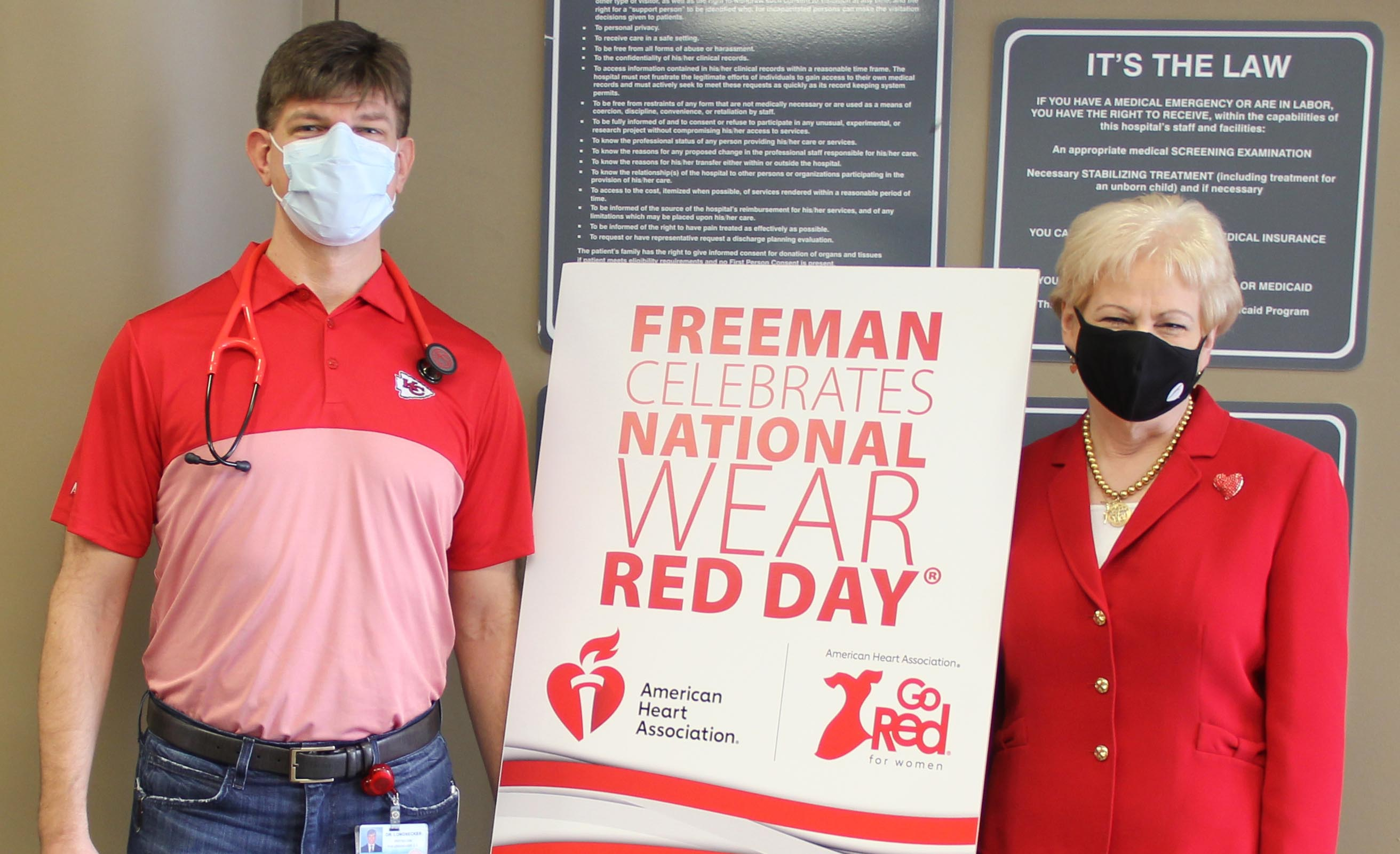 Freeman goes red 2021