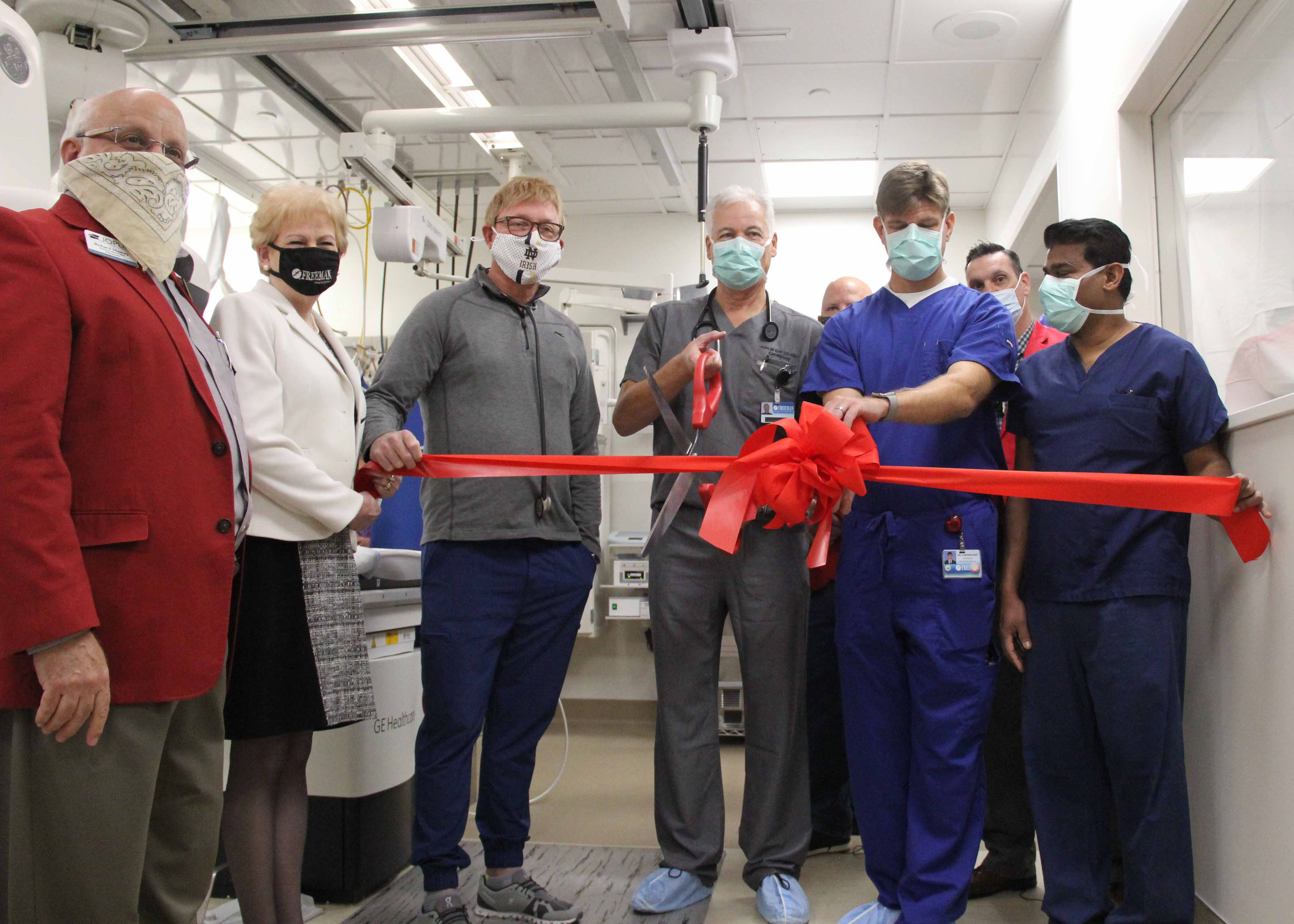 Freeman Heart Institute Cath Lab Ribbon Cutting