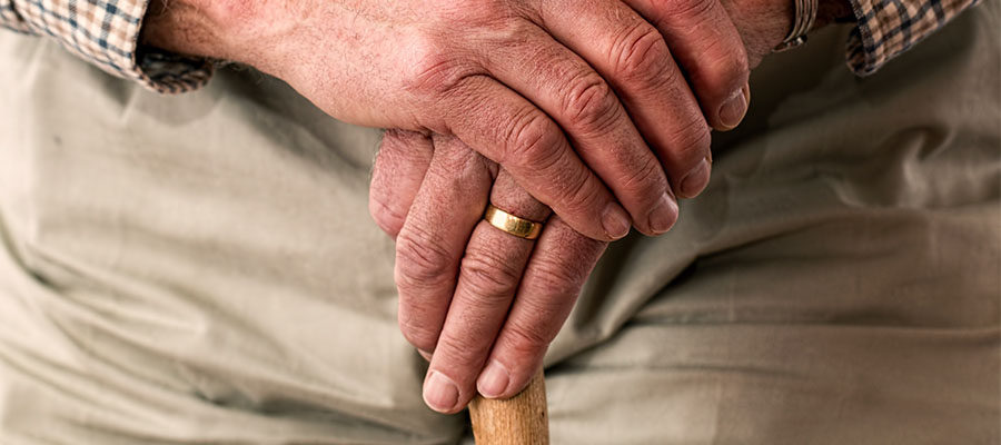 Older Patient with Cane