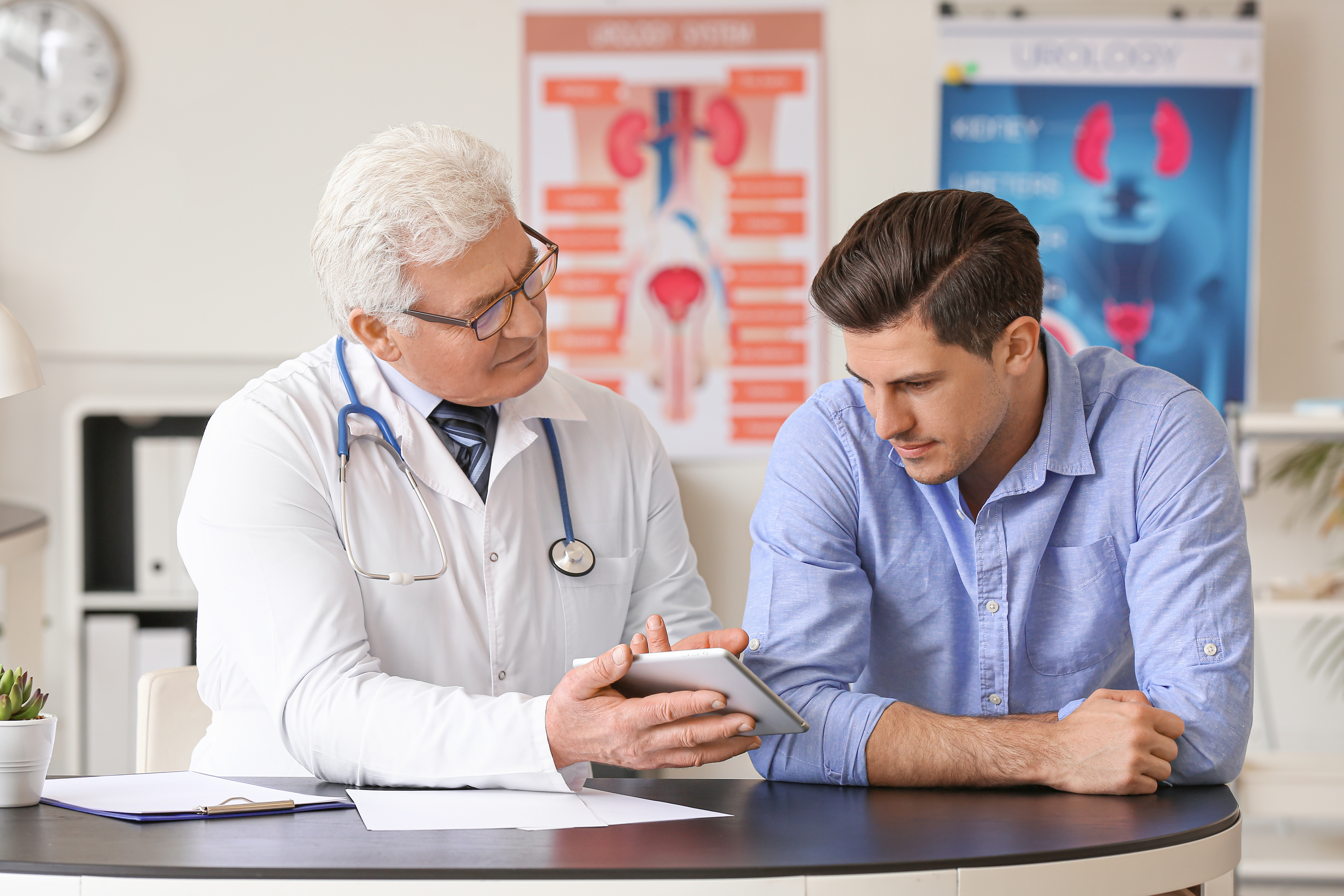 Urology Doctor with patient
