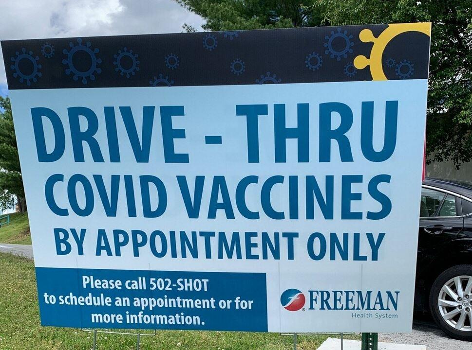 COVID Vaccine sign